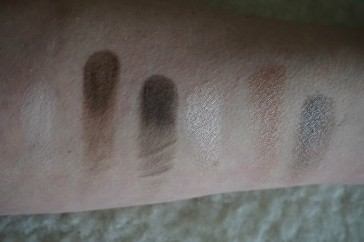 finger swatches of all 6 shades